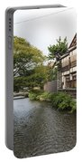 River And Houses In Kyoto Japan Portable Battery Charger