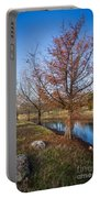 River And Winter Trees Portable Battery Charger