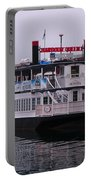 River Boat At Dock Portable Battery Charger