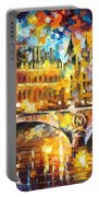 River City - Palette Knife Oil Painting On Canvas By Leonid Afremov Portable Battery Charger