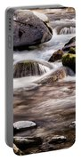 River Flowing Over Rocks Portable Battery Charger