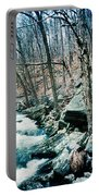 River Flowing Through A Valley, Hudson Portable Battery Charger