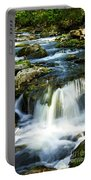 River Flowing Through Woods Portable Battery Charger