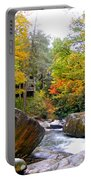 River House In The Fall Portable Battery Charger