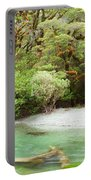 River In Rainforest Wilderness Of Fiordland Np Nz Portable Battery Charger