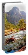 River In Zion National Park Portable Battery Charger