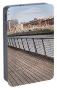 River Liffey Boardwalk In Dublin Portable Battery Charger