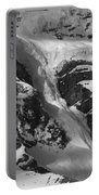 1m3646-bw-river Of Ice On Snowbird Glacier Portable Battery Charger