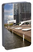 River Promenade In Rotterdam Portable Battery Charger