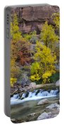 River Rapids In Zion Portable Battery Charger
