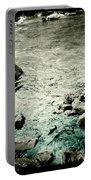 River Rocked Portable Battery Charger by Susan Maxwell Schmidt