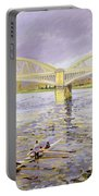 River Thames At Barnes Portable Battery Charger by Sarah Butterfield