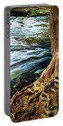 River Through Woods Portable Battery Charger