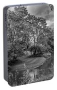 River Tranquility Monochrome Portable Battery Charger