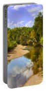 River View With Reflections - Digital Paint Portable Battery Charger