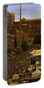 Riverfront Concert Portable Battery Charger by Diana Powell