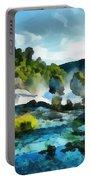 Riverscape Portable Battery Charger by Ayse Deniz