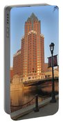 Riverwalk And Lamp Post Portable Battery Charger
