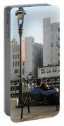 Riverwalk Couple On Bench Portable Battery Charger