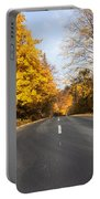Road In Autumn Forest Portable Battery Charger