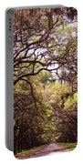 Road Of Trees Portable Battery Charger