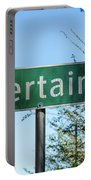 Road Sign To Uncertain, Texas Portable Battery Charger