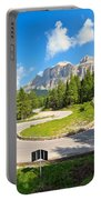 road to Pordoi pass Portable Battery Charger
