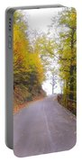 Road With Autumn Trees Portable Battery Charger