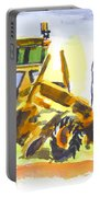 Roadmaster Tractor In Watercolor Portable Battery Charger by Kip DeVore