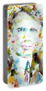 Robert Frost . Watercolor Portrait Portable Battery Charger