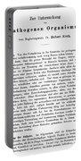 Robert Koch: Paper, 1881 Portable Battery Charger