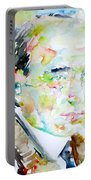 Robert Musil - Watercolor Portrait Portable Battery Charger