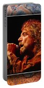 Robert Plant Art Portable Battery Charger by Marvin Blaine
