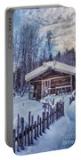 Robert Service Cabin Winter Idyll Portable Battery Charger