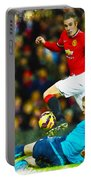 Robin Van Persie Of Manchester United Portable Battery Charger