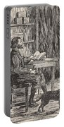 Robinson Crusoe In His Cave Portable Battery Charger
