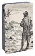 Robinson Crusoe On His Island Portable Battery Charger