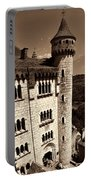Rocamadour Stone Tower Vertical Panorama Sepia Portable Battery Charger