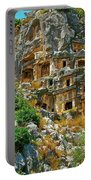 Rock-carved Tombs In Myra-turkey Portable Battery Charger