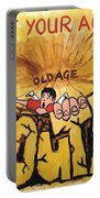 Rock Climbing Cartoon Portable Battery Charger