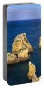 Rock Formations In The Sea, Algarve Portable Battery Charger