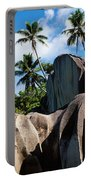 Rock Formations On The Beach, Anse Portable Battery Charger