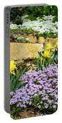 Rock Garden Flowers Portable Battery Charger