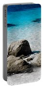 Rock Garden In Water Portable Battery Charger