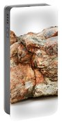 Rock Isolated On White Portable Battery Charger