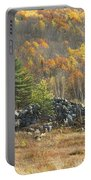 Rock Pile In Maine Blueberry Field Portable Battery Charger by Keith Webber Jr