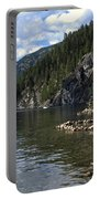 Rock Pools On Christina Lake Portable Battery Charger