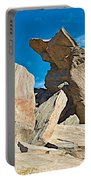 Rock Uplifts In Andreas Canyon In Indian Canyons-ca Portable Battery Charger