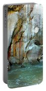 Rock Wall And River Portable Battery Charger