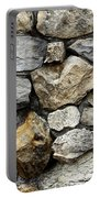 Rock Wall  Portable Battery Charger by Les Cunliffe